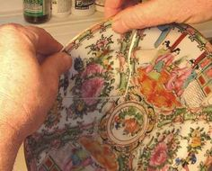 How to Repair and Restore Ceramic, Porcelain, China or Pottery - Fixing Broken Plate Demo