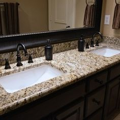 Granite Could Be Ok Bathrooms Santa Cecilia Countertops Bathroom Vanity Material From Levantina Dallas