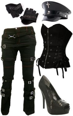 """military look"" by little-miss-rocker-chick on Polyvore. Nice and fun!..add a leather jacket and swap out for combat boots, perfect!"