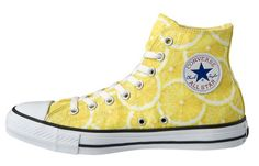 "Available in strawberry and lemon, the ""Fruit Hi"" will hit Converse retailers in April, which happens to be the start of the peak growing season for both fruits. Description from solecollector.com. I searched for this on bing.com/images"
