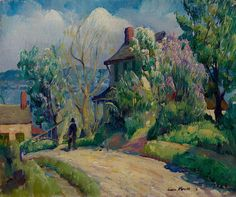 Leon Kroll (USA 1884-1975) Rondout, New York oil on canvas 45.9 x 38.4 cm