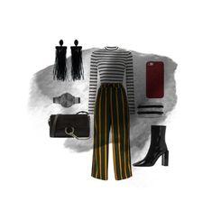 """Stripes"" by obretin-raluca on Polyvore featuring Miss Selfridge, Chloé, Apple, Oscar de la Renta, Effy Jewelry, Rebecca Minkoff and vintage"