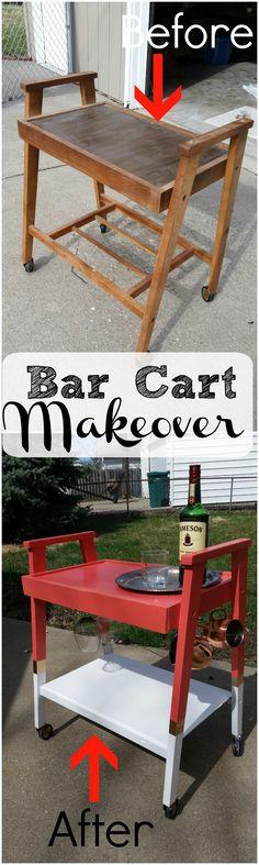 Bar cart make over using Americana Gloss Enamels. #decoartprojects