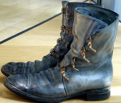 Carol Christian Poell horse leather buckle boots  www.creativeboysclub.com