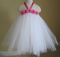 Beautiful Tulle Tutu Dress - Ballerina Tutu Dress for Flower Girl, Wedding, Birthday Party, Photo Prop or dress up. Can use photo as an by frida de ramos