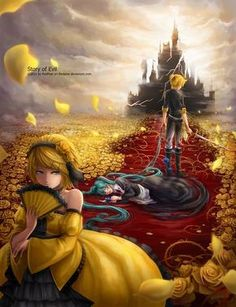 Tags: Vocaloid, Kagamine Len, Kagamine Rin, Hatsune Miku, Evillious Chronicles, Seven Sins Series, Superbia/Pride, Story of Evil, Daughter of Evil, Servant of Evil, Daughter of Green, Riliane Lucifen d'Autriche, Allen Avadonia, Michaela