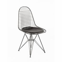 Mid Century Modern Reproduction Wire Chair With Seat