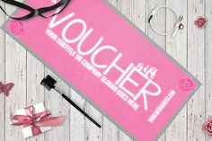 FANCY PINK gift voucher by Tzochko on Creative Market