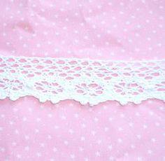 3cm White Crocheted Lace Yard - Catherine #craft