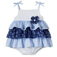 Little Lass Tiered Eyelet Bodysuit - Baby Girl