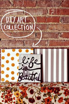 DIY Art Collection - this is a great way to complete groupings with other more complex illustrated pieces
