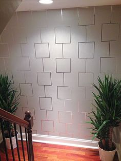 How to create an Aluminum tape feature wall