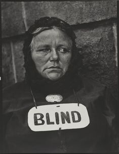 "Paul Strand, ""Blind Woman, New York"" 1916 © Paul Strand Archive/Aperture Foundation 09strand"