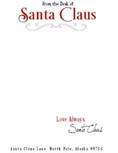Légend image intended for free printable santa stationary