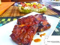 Costillas asadas con salsa barbacoa casera Salsa Jack Daniels, Salsa Barbacoa Casera, Empanadas, Tandoori Chicken, Love Food, Food And Drink, Beef, Dinner, Ethnic Recipes