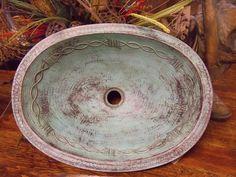 Copper Barbwire Turquiose Sink
