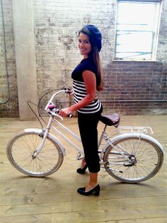 lea michele catching a ride on a brooklyn cruiser....