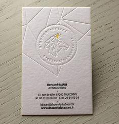 Print : Badcass - Design : Elanassë - Carte de visite en letterpress - #débossagepur #couleursurtranches