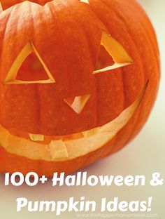 100+ Halloween & Pumpkin Ideas! Lots of Crafts, Decor, Recipe ideas, perfect for fall!