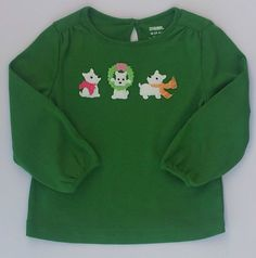 Gymboree Cheery All The Way Girls Green Westie Dogs Shirt SZ 3-6 Months NWT #Gymboree #Everyday