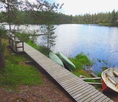 You can also hire a canoe or a rowing boat or jump in the refreshing, clear lake! Clear Lake, Rowing, Outdoor Furniture, Outdoor Decor, Canoe, Finland, Sun Lounger, Wilderness, Norway