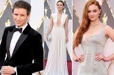 Eddie Redmayne, Olivia Wilde, Sophie Turner Oscars 2016