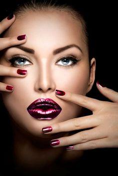 Lipstick lips for Christmas