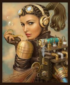 Steampunk its more than an aesthetic style, it's the longing for the past that never was. In Steampunk Girls we display professional pictures, and illustrations of Steampunk, Dieselpunk and other anachronistic 'punks. Some cosplay too! Moda Steampunk, Steampunk Kunst, Style Steampunk, Steampunk Fashion, Gothic Fashion, Steampunk Fairy, Steampunk Clothing, Asian Steampunk, Steampunk Makeup