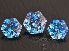 "Topaz - 3 pcs Suite ""Gem-Intrusion""©™ with lapis, turquoise and coral"