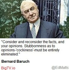 Bernard Baruch considers the Facts