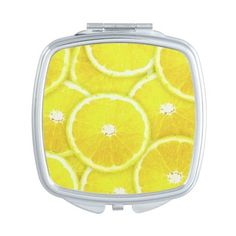 Lemon slices Vanity Mirror (23 CAD) ❤ liked on Polyvore featuring beauty products, beauty accessories, makeup, compacts, cosmetics, fillers and beauty