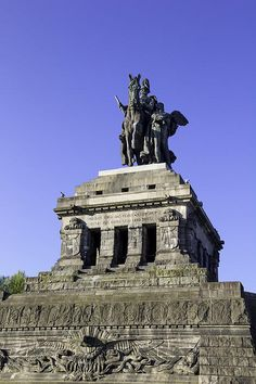 Monument designed by Bruno Schmitz of King Wilhelm I, King of Prussia, in Koblenz, Germany.