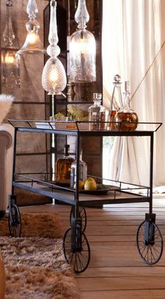 Add our David Bromstad Trolley Cart Table to any space that needs extra shelving or a stylish work surface.
