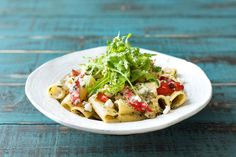 Red Pepper and Goat's Cheese Rigatoni