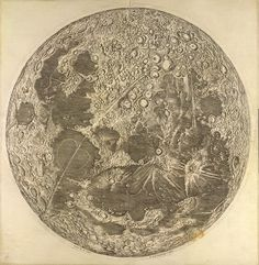 Cassini's Map of the Moon , 1679  This is the first scientific map of the moon, and was produced in Paris by the famous astronomer Giovanni Domenico Cassini