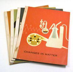 Retro Science Texts, Set of 4 Vintage 1965 Children's Textbooks
