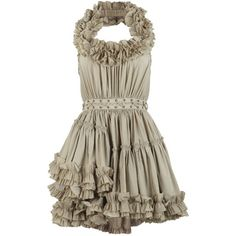 Allegra Dress ($325) ❤ liked on Polyvore featuring dresses, vestidos, short dresses, vestiti, women, textured dress, allsaints dress, brown cocktail dress and vintage dresses