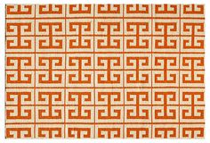 Donna Flat-Weave Rug, Orange on OneKingsLane.com