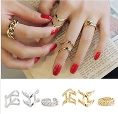 Fashion Women's Warped Silver Above Midi Knuckle Rings 3Pcs/Set, £4.99