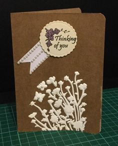 Thinking of you with butterflies and gesso