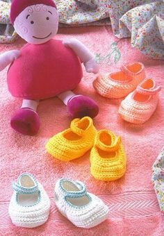 Free crochet pattern Infant baby booties sandals Mary Janes