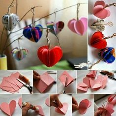 DIY Paper Hearts, just in time for Valentines Day! Diy Craft Projects, Crafts To Do, Crafts For Kids, Diy Paper, Paper Crafting, Origami, Heart Tree, Creation Deco, Paper Hearts