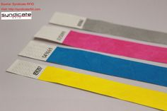 Customized Tyvek wristbands with rfid and nfc are available with us. #rfid #nfc #event #wristband #wristbands