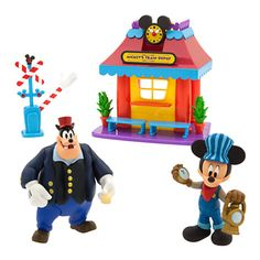 """The Disney Store """"Mickey Mouse Clubhouse"""" Mickey's Train Depot playset"""