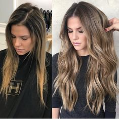 Pin by carmen lopez on Hair Color in 2019 Pin by carmen lopez on Hair Color in 2019 Blonde Light Brown Hair, Dark To Light Hair, Blonde Hair With Highlights, Dark Hair, Color Highlights, Before After Hair, Blonde To Brunette Before And After, Balayage Before And After, Hair Extensions Before And After