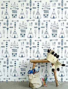 Hibou Home Teepee Wallpaper
