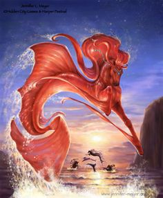 Coral & the Pearl Diver - Sea horse by Jennifer L Meyer (BellaSara) Mystical Animals, Mythical Creatures Art, Mythological Creatures, Magical Creatures, Beautiful Creatures, Fantasy World, Fantasy Art, Horse Drawings, Wolf Drawings
