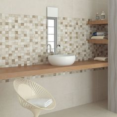 Matt Finished Light Beige Mottled Ceramic Wall Tile In Addition Fascinating Mosaic Feature Tiles Bathroom Decorating Inspiration