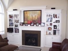 Television Instead Of The Painting; Possibly Find A Way To Close Up The Tv  Part. Wall FireplacesFireplace MantelsElectric ...