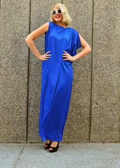 32bba71d81cbd Royal Blue Kaftan   Silk Blue Kaftan   Royal Blue Maxi Dress   Royal Blue  Silk Dress TDK143